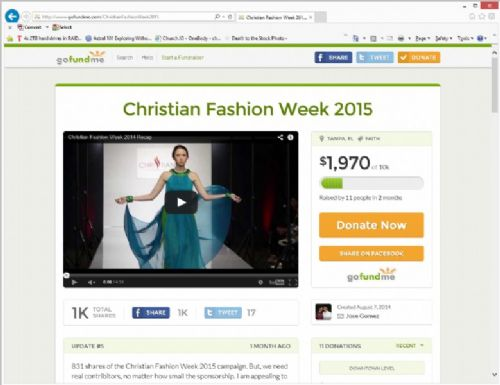 Christian Fashion Week Launches GoFundMe Campaign